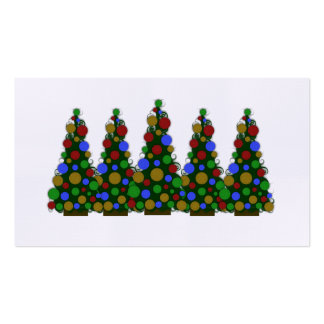 Multi Colored Christmas Tags Business Card