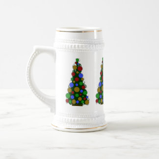 Multi Colored Christmas Tree Stein