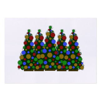 Multi Colored Christmas Tree Tags Large Business Card