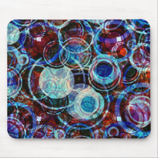 Multi-colored Coffee Rings Mouse Pad