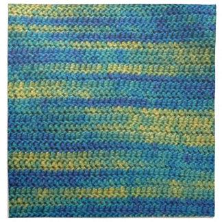 Multi-Colored Crochet Blanket Pattern Cloth Napkin