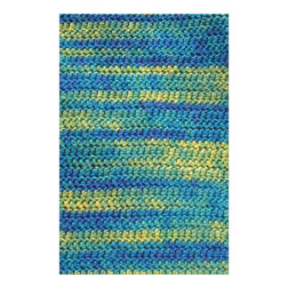 Multi-Colored Crochet Blanket Pattern Stationery