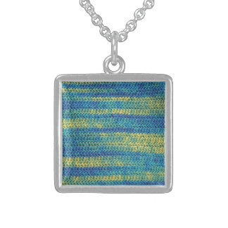 Multi-Colored Crochet Pattern Necklace - USA