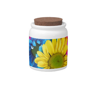 Multi-Colored Daisies Candy Dish