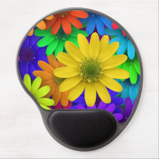 Multi Colored Daisies Gel Mouse Pad