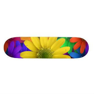 Multi Colored Daisies Skate Board Deck