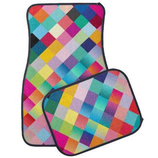 """Multi Colored Design"" Car Mat"