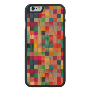 Multi Colored Design Cherry Wood Carved Cherry iPhone 6 Slim Case