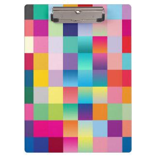 """""""Multi Colored Design"""" Clipboard"""