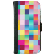 """Multi Colored Design"" iPhone 6/6s Wallet Case"