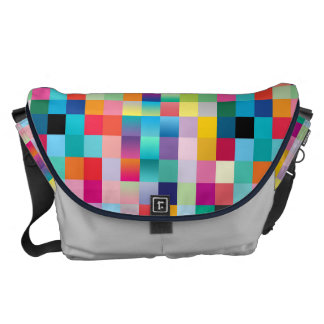 Multi Colored Design Large Courier Bag