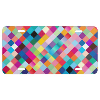 """""""Multi Colored Design"""" License Plate"""