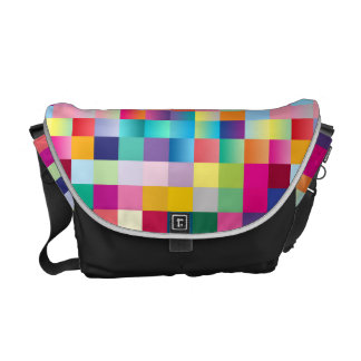 Multi Colored Design Messenger Bag