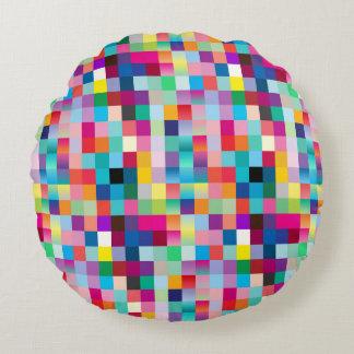 Multi Colored Design Round Pillow
