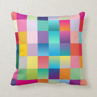 """Multi Colored Design"" Throw Pillow"