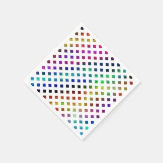 multi-colored Diamonds Paper Napkin