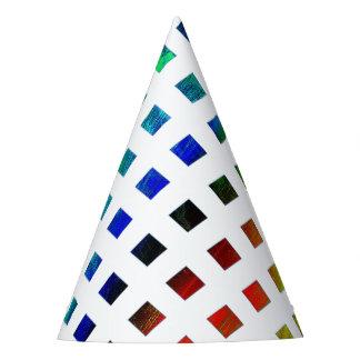 multi-colored Diamonds Party Hat