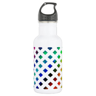 multi-colored Diamonds Stainless Steel Water Bottle