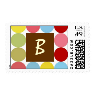 Multi Colored Dots LETTER B POSTAGE STAMPS