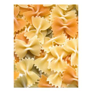 multi colored dried pasta letterhead