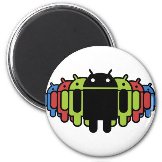 Multi colored Droid Army 2 Inch Round Magnet