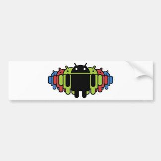 Multi colored Droid Army Bumper Sticker