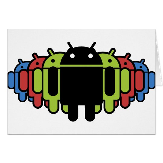 Multi colored Droid Army Card