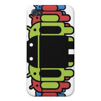 Multi colored Droid Army iPhone 4 Cover