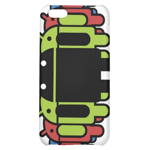 Multi colored Droid Army iPhone 5C Cases