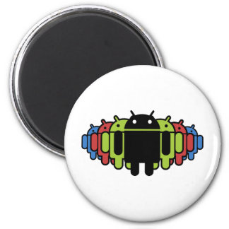 Multi colored Droid Army Magnet