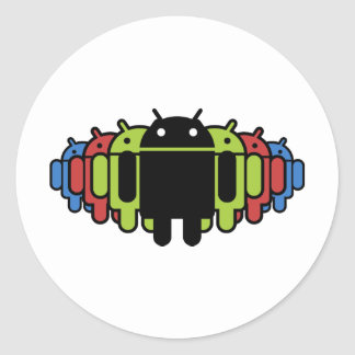 Multi colored Droid Army Sticker