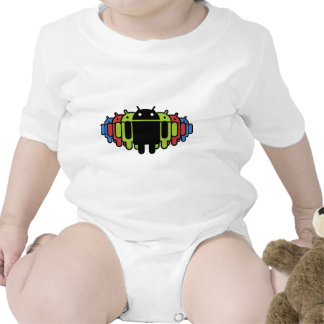Multi colored Droid Army T Shirt