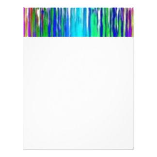 Multi colored drops letterhead