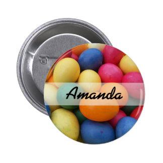 Multi colored Easter Eggs Festive Button
