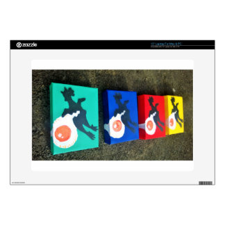 """multi colored egg rubber chicken 15"""" laptop skins"""