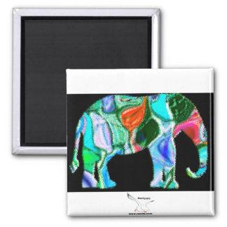 Multi Colored Elephant Fridge Magnets