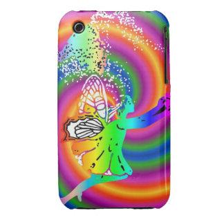 Multi-colored fairy iPhone 3 cover