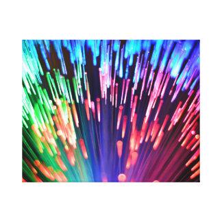 Multi-colored Fibre-optics Canvas Print