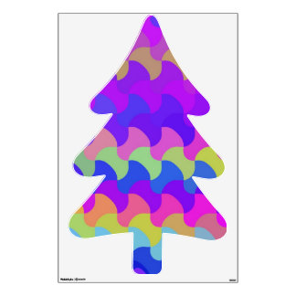 Multi Colored Fir tree Pine tree Wall Graphics