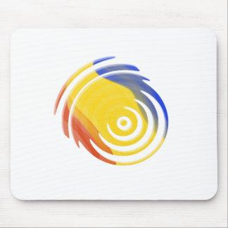 Multi-Colored Fireball Mouse Pad