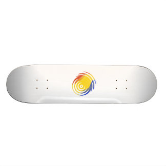 Multi-Colored Fireball Skateboard Deck