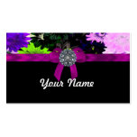 Multi-colored floral Double-Sided standard business cards (Pack of 100)