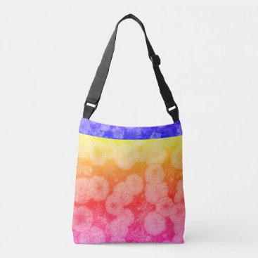 Beach Themed Multi-colored Floral Design Bag
