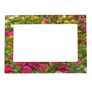 """""""MULTI-COLORED FLORAL MAGNETIC FRAME"""" MAGNETIC PHOTO FRAME"""