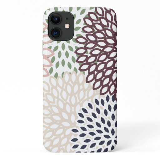 Multi-Colored Floral Patterned iPhone 11 Case