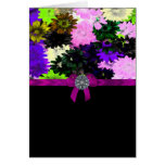 Multi-colored floral stationery note card