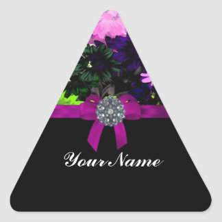 Multi-colored floral triangle sticker