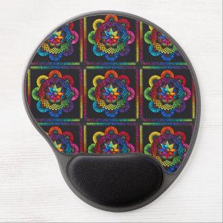 Multi-Colored Flower Motif Design Gel Mouse Pad