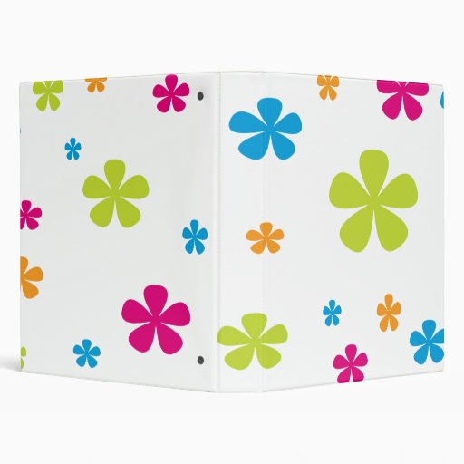 Multi colored flowers binder zazzle for How to make multi colored flowers