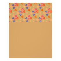 Multi- Colored Flowers Pattern Flyer
